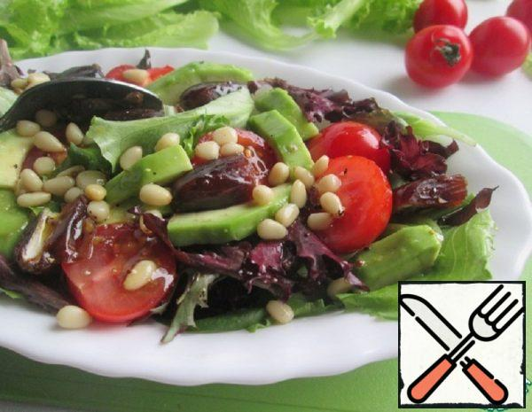 Salad with Dates and Pine Nuts Recipe