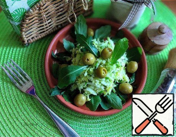 Green Radish Salad with Arugula Recipe