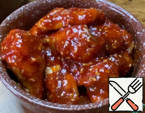 Chicken Wings in Tomato and Honey Sauce Recipe