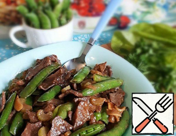Beef in Oyster Sauce with Peas Recipe