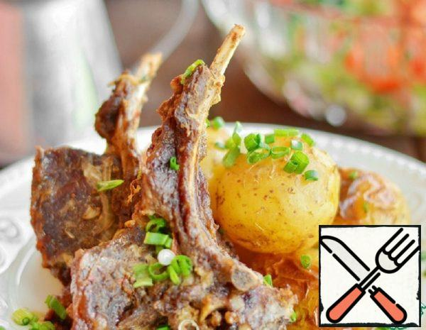 Roast Goat Meat with Potatoes Recipe