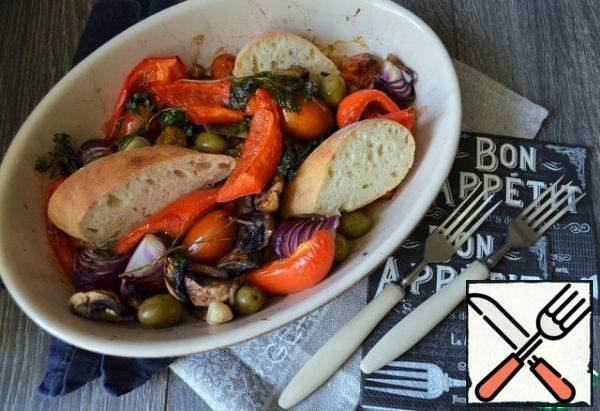 Serve hot with ciabatta.