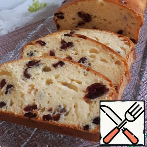 Cut the cake into portions and serve with tea.