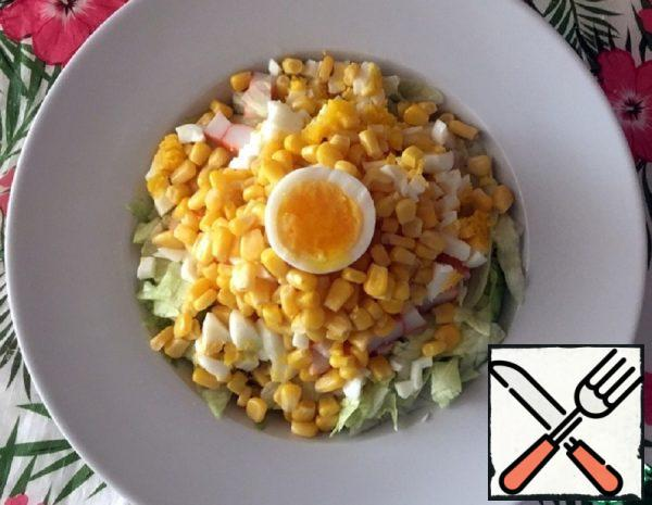 Salad of Crab Sticks with Butter Recipe