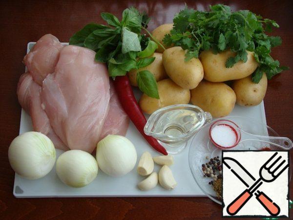 To prepare ojahuri, prepare all the necessary ingredients.