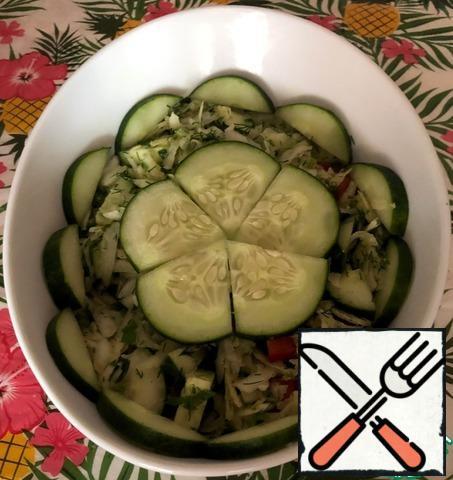 The salad is ready. Bon Appetit!