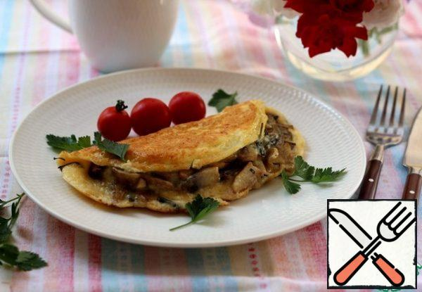 Cook and enjoy! Delicious, fast, budget-friendly! For the third day in a row, we start the morning with this omelet.