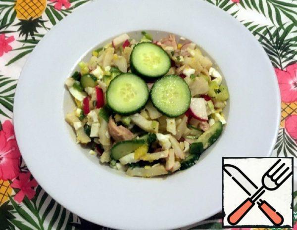 Potato Salad with Radishes and Cucumbers Recipe