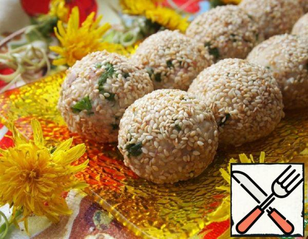 Salad Balls with Cod Liver Recipe