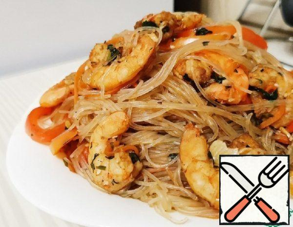 Funchosa with Shrimp and Vegetables Recipe