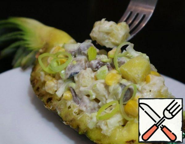 Tender Salad with Herring and Pineapple Recipe