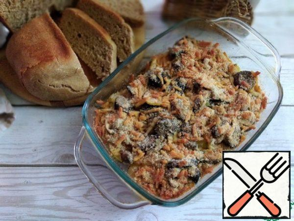 Baked Potatoes with Mushrooms Recipe