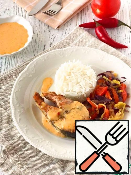 Garnish the dish with stewed vegetables, boiled rice, boiled potatoes and French fries or your favorite side dish.Bon Appetit!